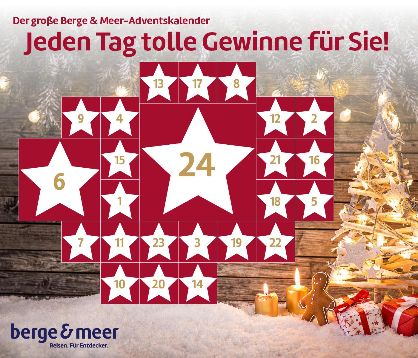 Gewinn Weihnachtskalender.Berge Meer Adventskalender 2018